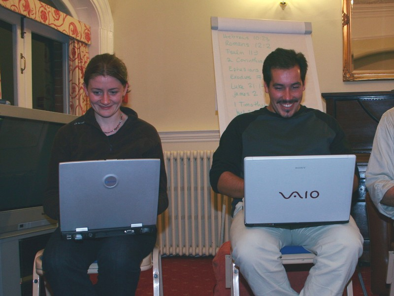 Jan and Tiago at their laptops