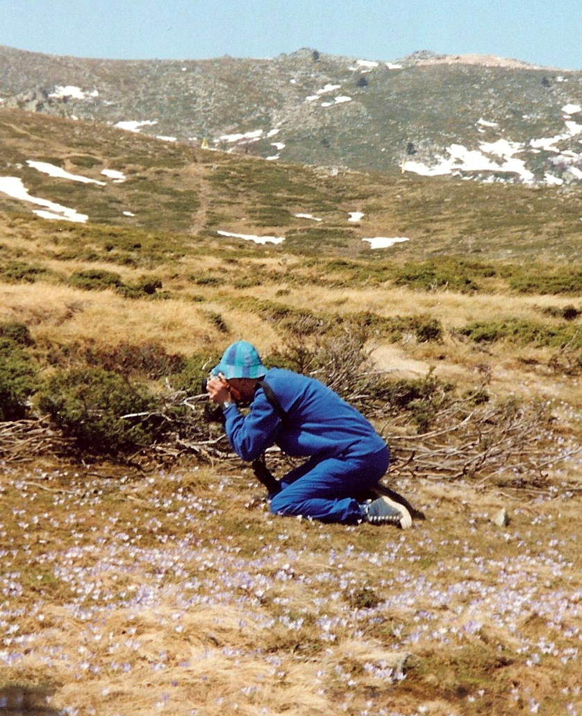 John Stott photographing nature in Turkey