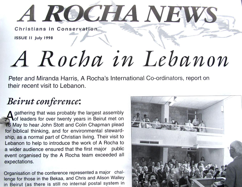 John Stott y la reunión de A Rocha Líbano