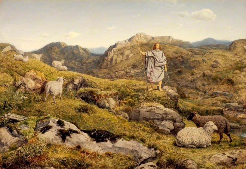 «Davi no sertão com suas ovelhas», por William Dice – Galerias Nacionais da Escócia, Edimburgo