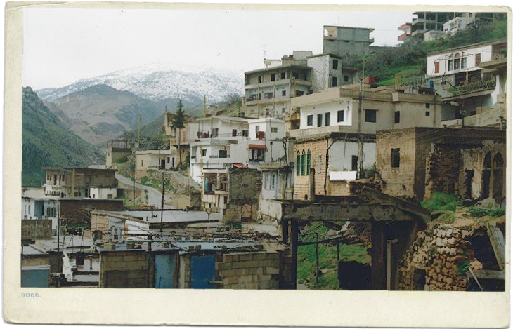 Qab Elias, Bekaa Valley, in 1996, home to the Naylor family during their early years in Lebanon