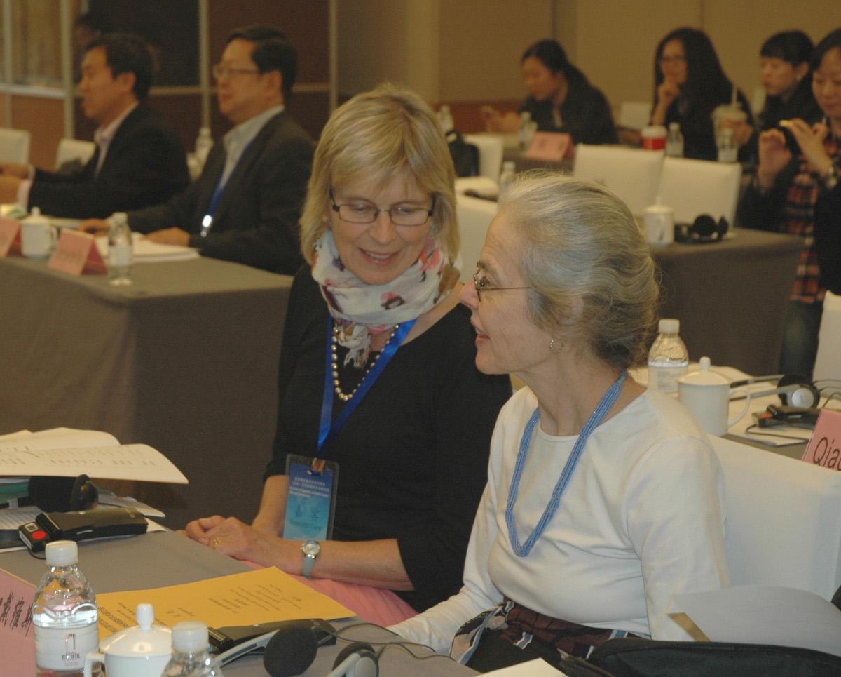 Miranda Harris and Ellen Davis at the Shanghai Bible and Environment Seminar