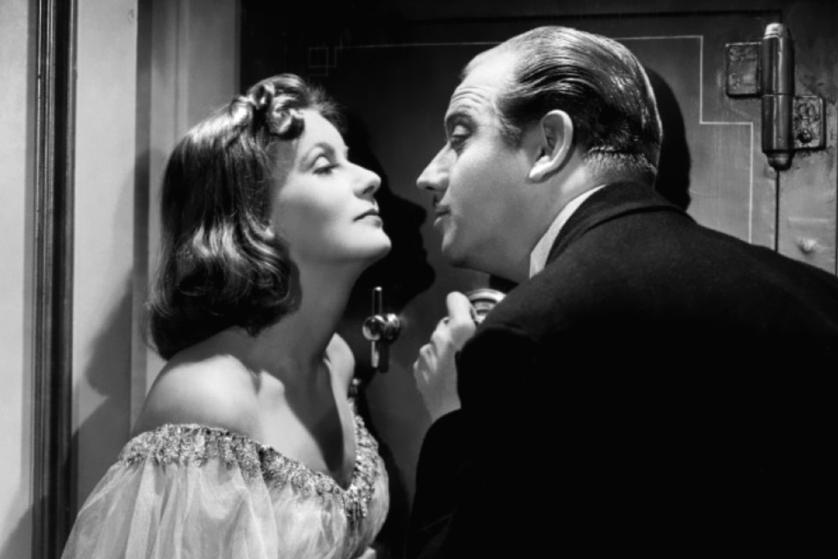 Greta Garbo and Melvyn Douglas in Ninotchka (1939)