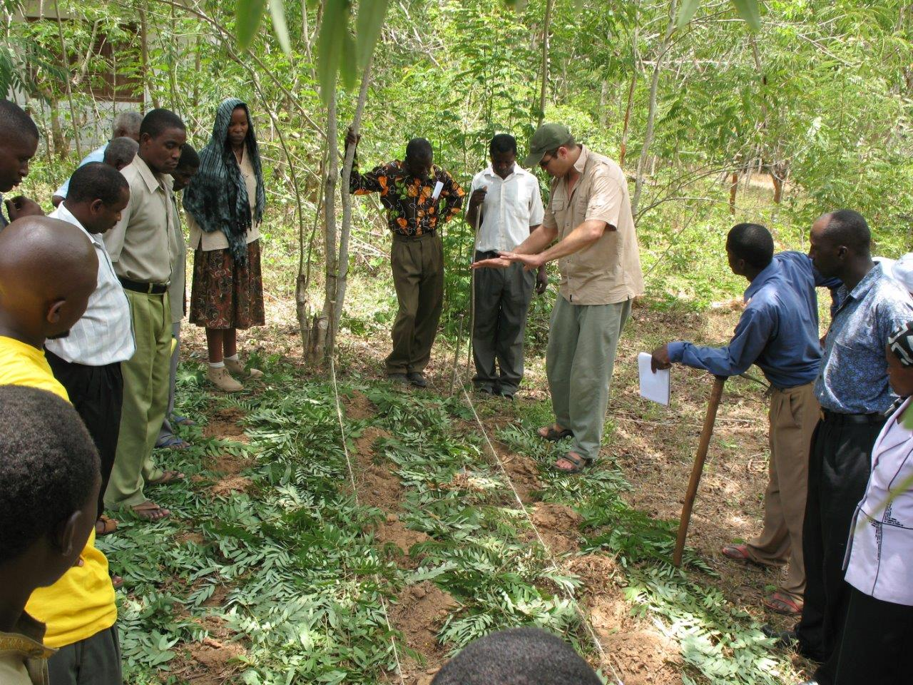 Church leaders who live around Dakatcha Woodlands, Kenya, learning how to do Farming God's Way
