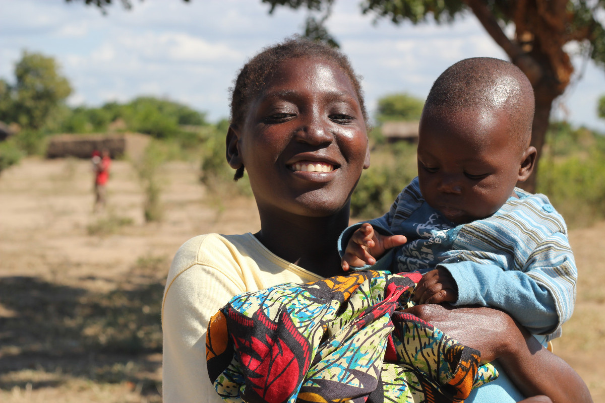 'If I had lots of children, I think my life would have been in danger because I would be giving birth frequently. There would be dire poverty in our house and we would not have enough food for all the children that I would have had.' (Ruth Jotua, 24, mother of two in Malawi; photo: DFID)