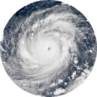 Typhoon Mangkhut at peak intensity