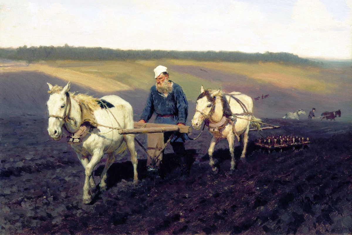 The Ploughman Tolstoy in the Fields, by Ilya Repin