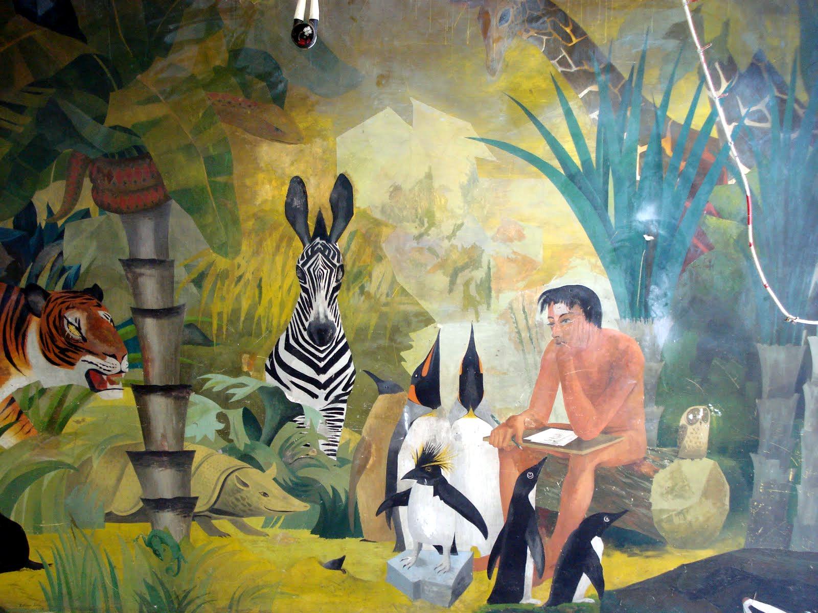 Barbara Jones, «Adam dando nome aos animais» (mural)